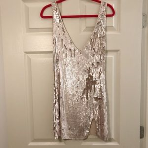 Free People Sequin Mini Dress- XS